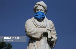 ببینید | در همدان، حتی ابوعلی سینا هم ماسک زد!