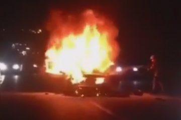 ببینید   دوو اسپرو بعد از تصادف با پراید در آتش سوخت