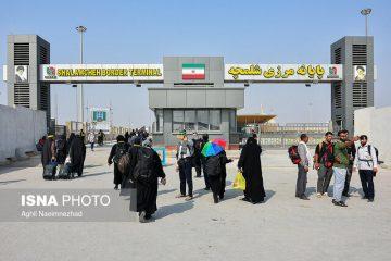 مرز شلمچه از سوی ایران و عراق بسته است